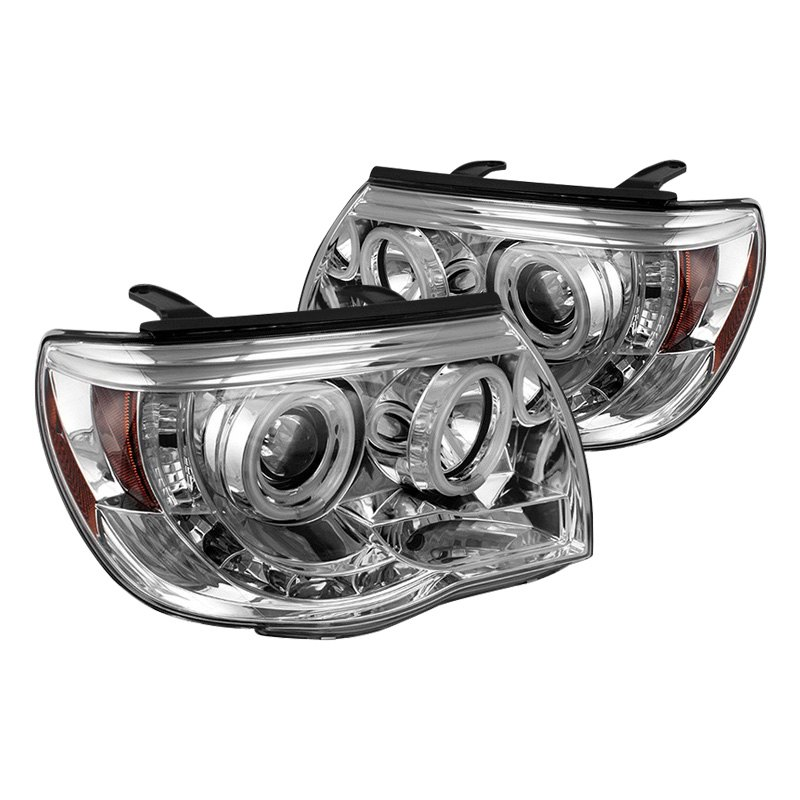 For 2005-2011 Toyota Tacoma LED Halo Projector Headlights Pair Left+Right