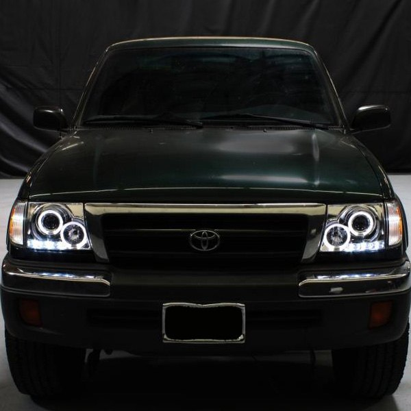 Spyder Black Halo Projector Headlights With Parking