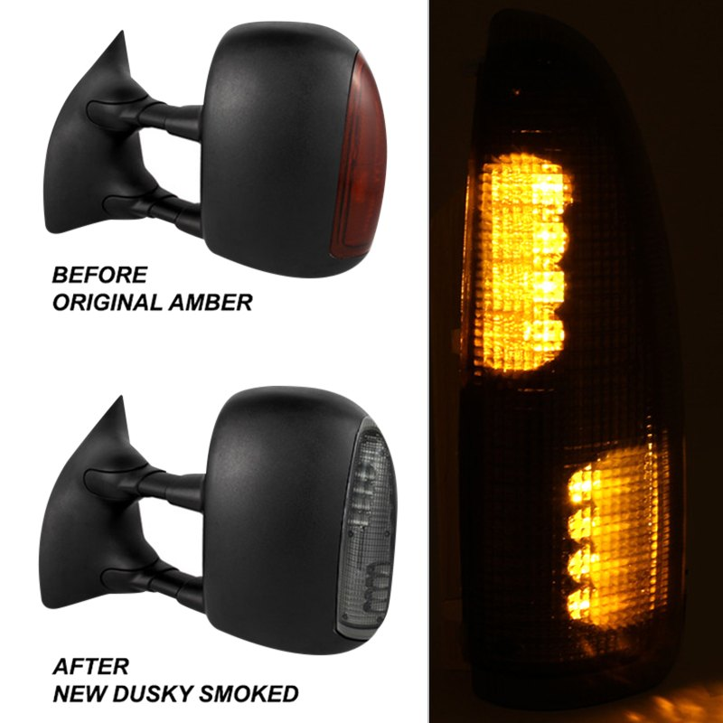 Spyder ford f 250 super duty 2003 led towing mirrors lens for Garage ford lens