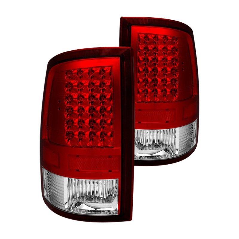 Spyder Dodge Ram 1500 2500 3500 2014 Chrome Red Led