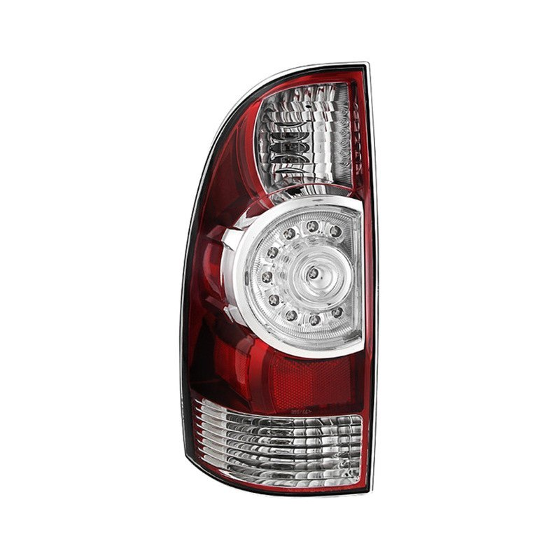spyder toyota tacoma 2009 2015 chrome red oe style led tail light. Black Bedroom Furniture Sets. Home Design Ideas