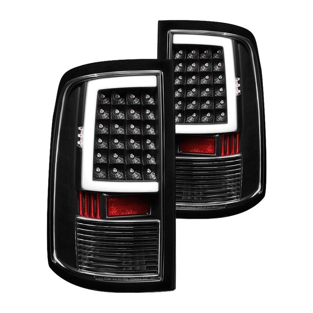 Spyder Alt On Dr09 Lbled Bk Black Fiber Optic Led Tail Lights