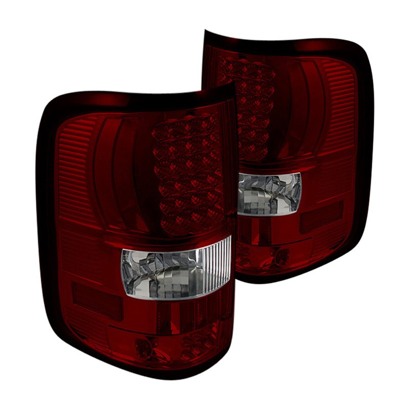 ff15004 led rc ford f 150 styleside 2006 chrome red led tail lights. Black Bedroom Furniture Sets. Home Design Ideas