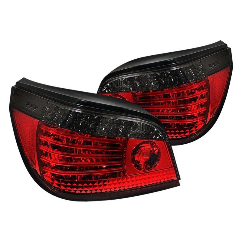 Spyder® ALT-YD-BE6004-LED-RS - Chrome Red/Smoke Fiber Optic LED Tail Lights