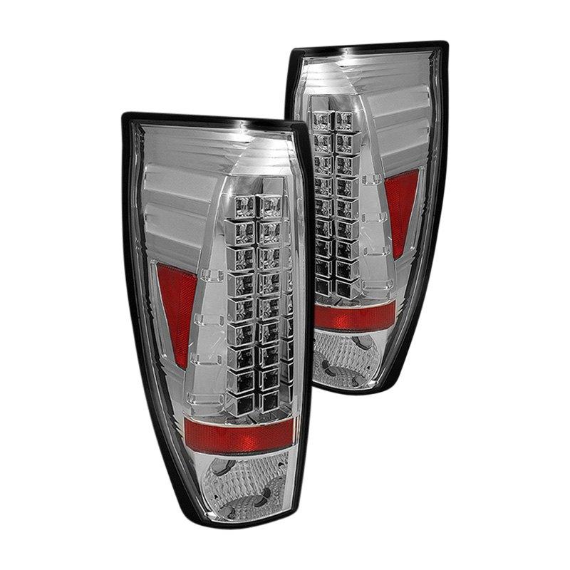 spyder alt yd cav02 led c chrome led tail lights. Black Bedroom Furniture Sets. Home Design Ideas