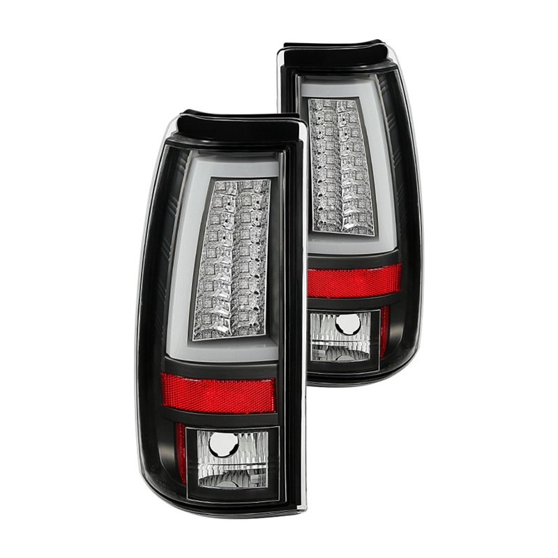 Spyder Alt Yd Cs03v2 Led Bk Chevy Silverado 2004 Black Led Tail Lights