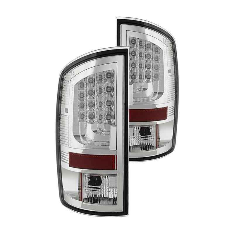 spyder alt yd dram02v2 led c chrome fiber optic led tail lights. Black Bedroom Furniture Sets. Home Design Ideas