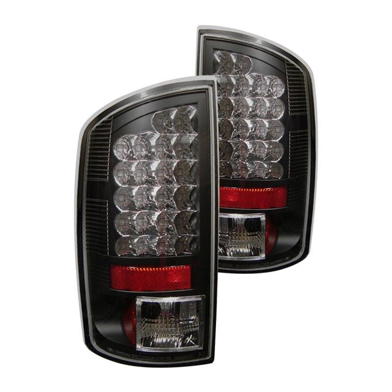led bk dodge ram 1500 2500 3500 2008 black led tail lights. Black Bedroom Furniture Sets. Home Design Ideas