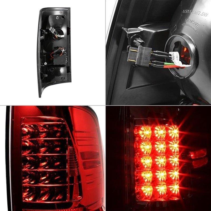 Spyder Dodge Ram 1500 2500 3500 2014 Chrome Red Smoke Led Tail Lights