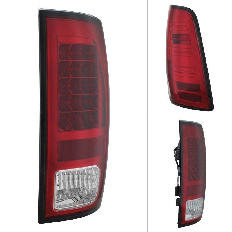 Spyder Dodge Ram 1500 2500 3500 2014 Chrome Red Led Tail Lights