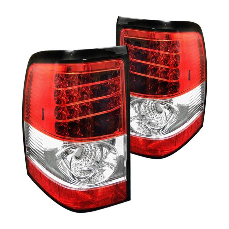 Spyder Chrome Red Led Tail Lights