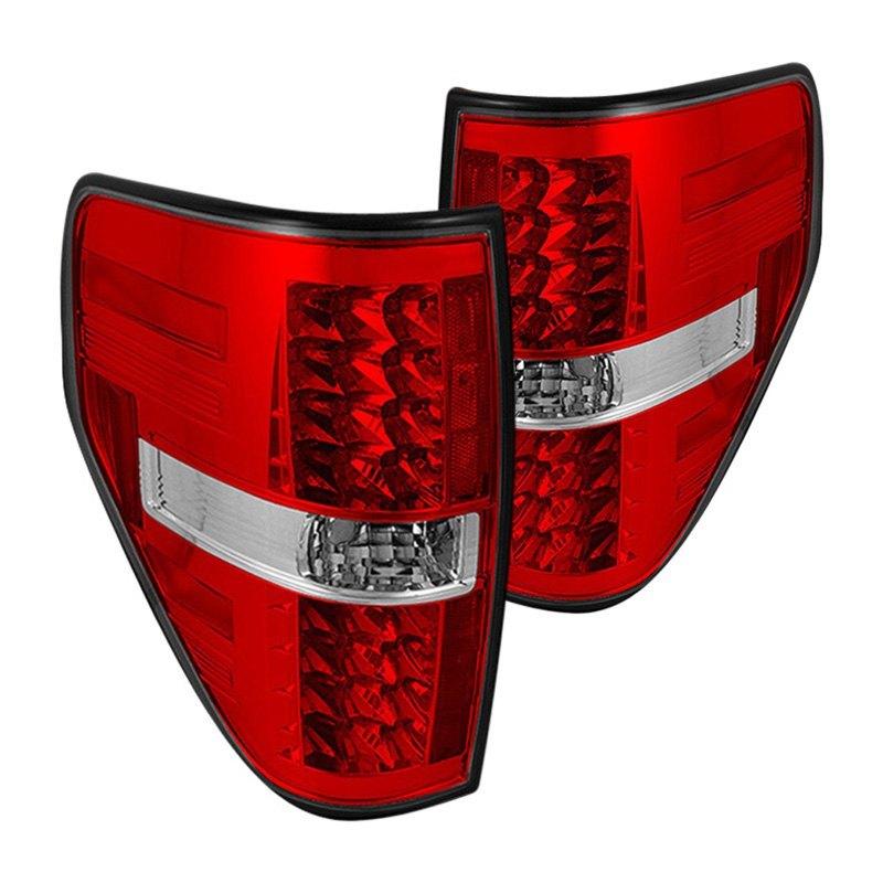 chrome red led tail lights spyder chrome red led tail lights. Black Bedroom Furniture Sets. Home Design Ideas