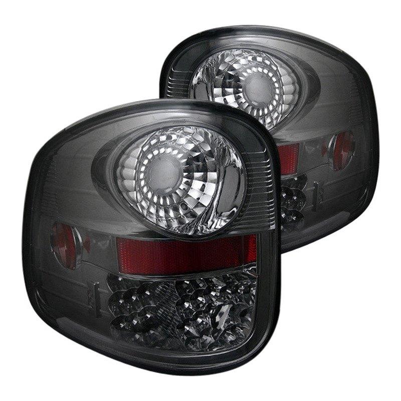 led sm ford f 150 flareside 2001 chrome smoke led tail lights. Black Bedroom Furniture Sets. Home Design Ideas