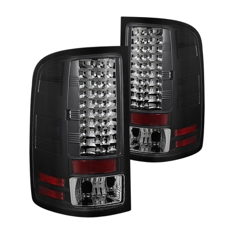 spyder gmc sierra 2007 black led tail lights. Black Bedroom Furniture Sets. Home Design Ideas