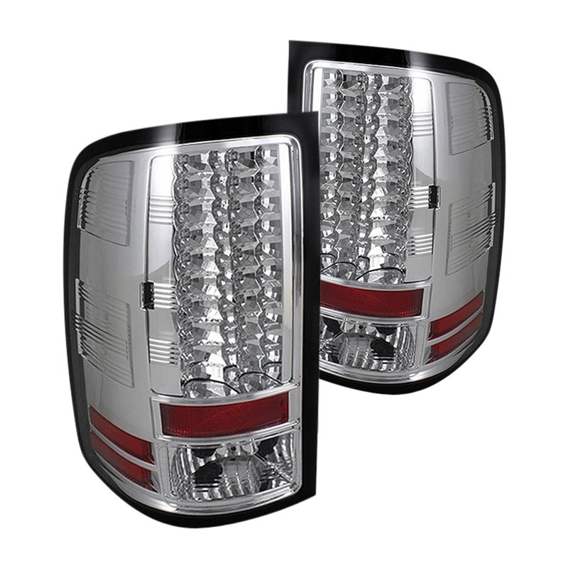 spyder gmc sierra 2009 chrome led tail lights. Black Bedroom Furniture Sets. Home Design Ideas