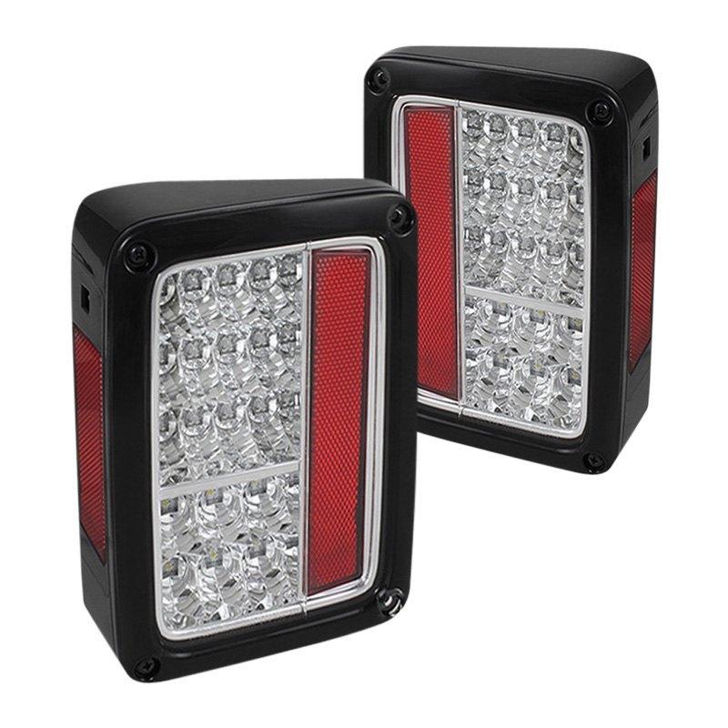 spyder alt yd jwa07 led c chrome led tail lights. Black Bedroom Furniture Sets. Home Design Ideas