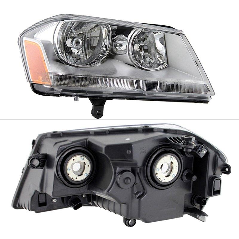 Spyder dodge avenger 2012 chrome factory style headlights for 2012 dodge avenger interior lights