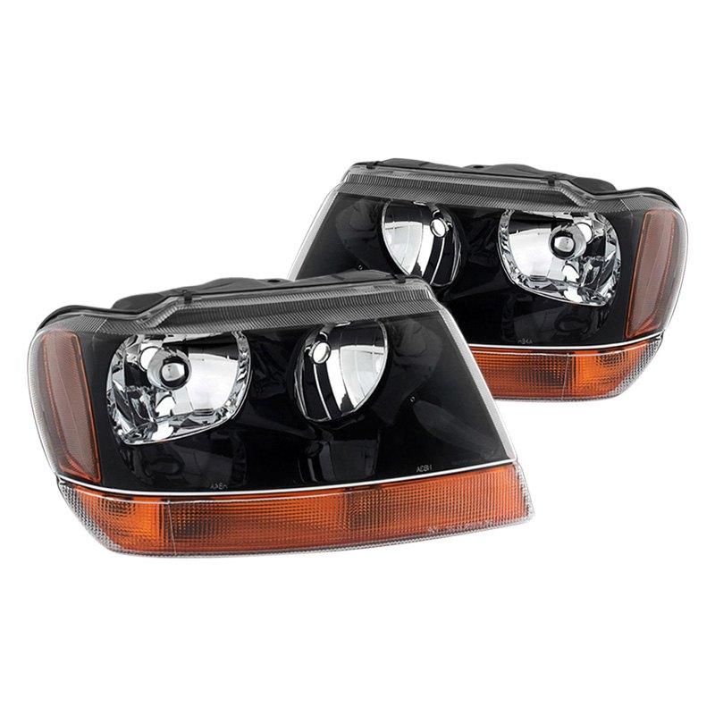 spyder hd jh jgc99 am bk jeep grand cherokee 2002 black euro headlights. Black Bedroom Furniture Sets. Home Design Ideas
