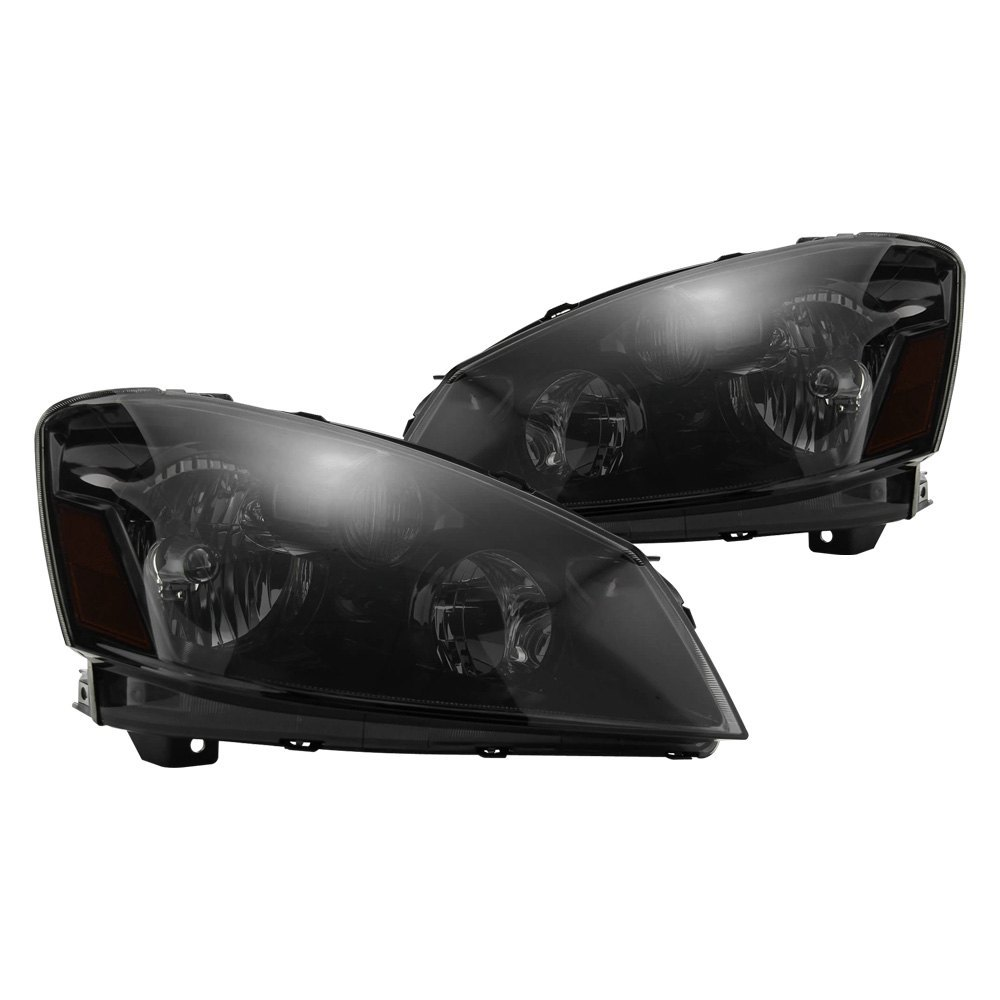 Spyder driver and passenger side black smoke factory style headlights
