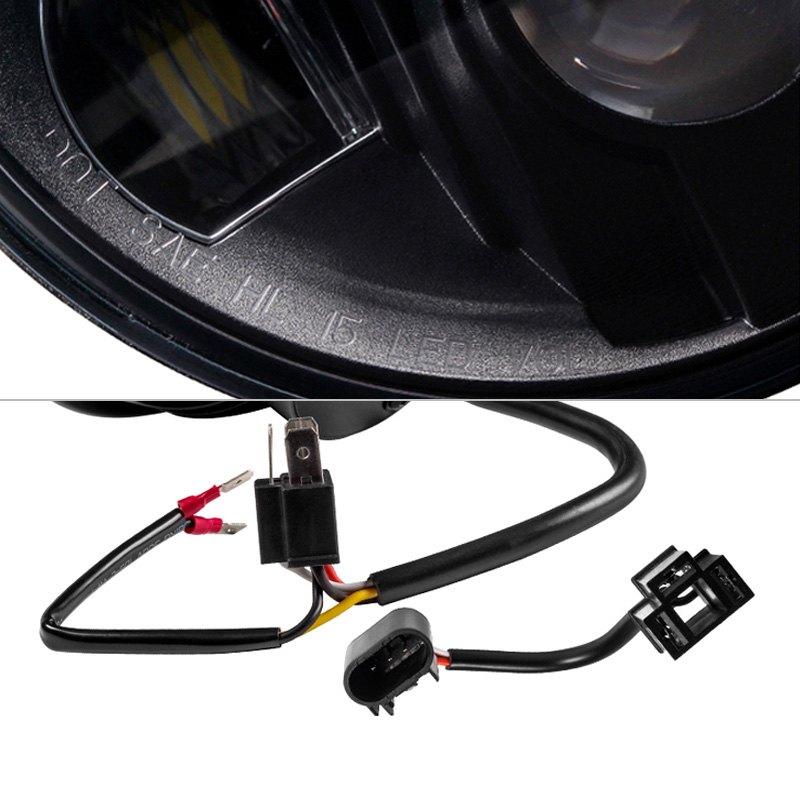 Spyder Jeep Wrangler 2013 7 Round Black Projector Led Headlights