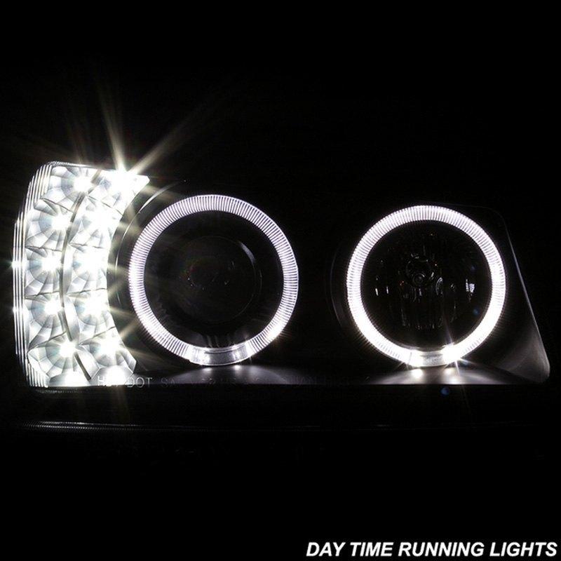 ... Black Halo Projector LED Headlights with Bumper LightsSpyder® ... & Spyder® PRO-JH-CSIL03-SET-BK - Black Halo Projector LED Headlights ... azcodes.com