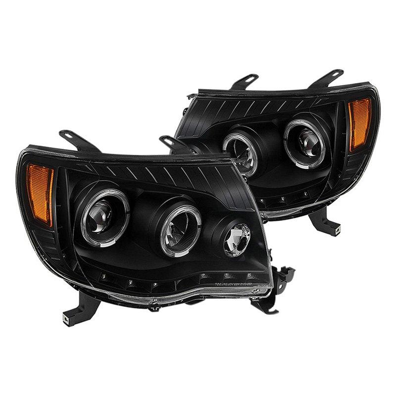 Toyota Tacoma Headlights: Toyota Tacoma 2009 Black Halo Projector LED