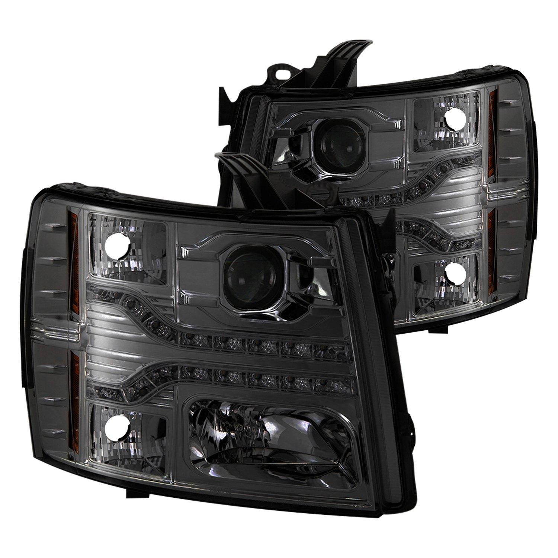 Spyder PRO YD CS07V2 DRL SM Chrome Smoke Projector Headlights