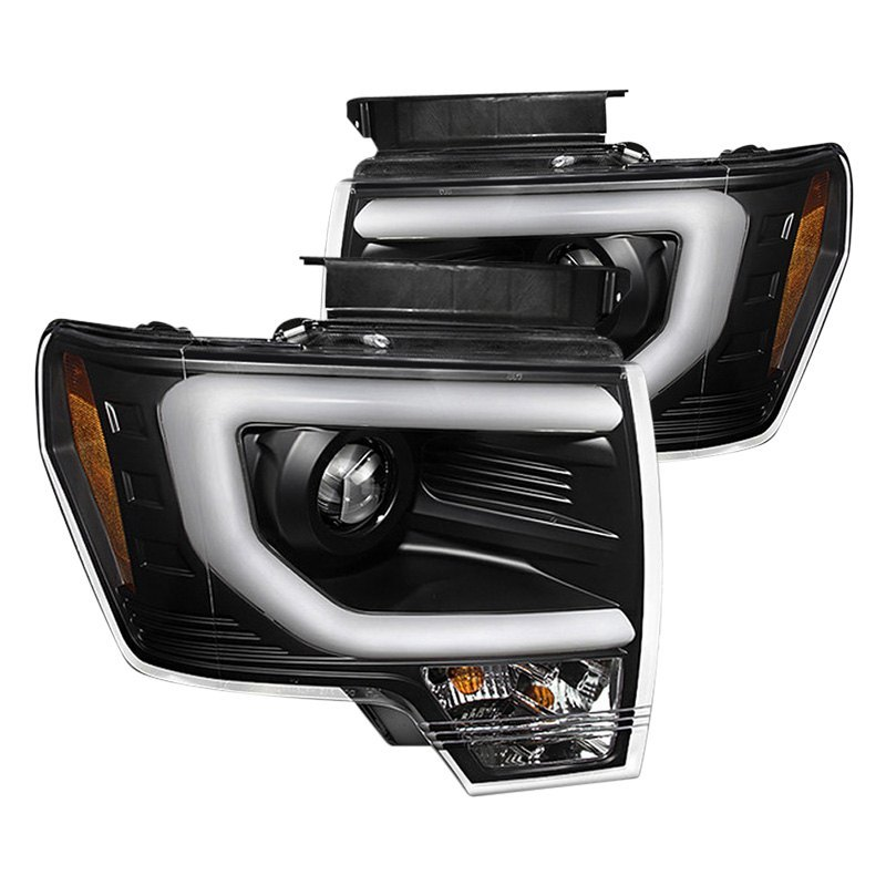 spyder ford f 150 2013 2014 black u bar projector led. Black Bedroom Furniture Sets. Home Design Ideas