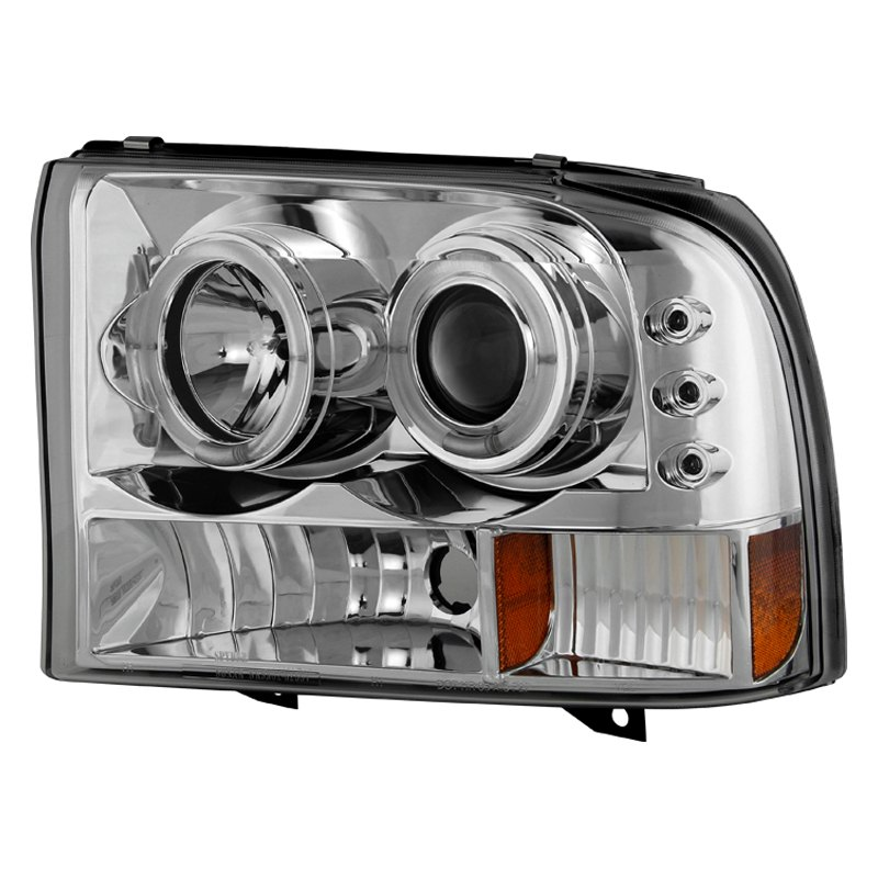Ford F 250 Headlights : Spyder ford f super duty with factory halogen