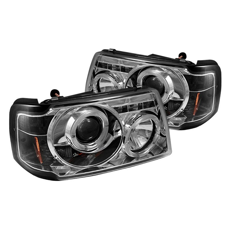 Ford Ranger Projector Headlights : Spyder ford ranger chrome halo projector led