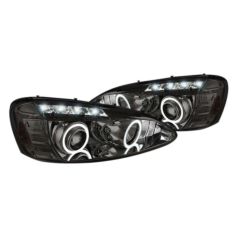 spyder pontiac grand prix with factory halogen headlights 2005 chrome smoke halo projector. Black Bedroom Furniture Sets. Home Design Ideas