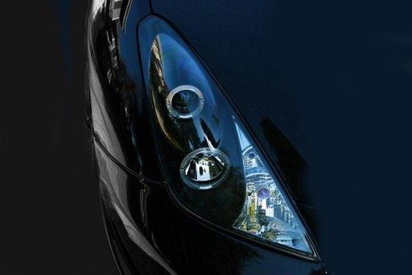 spyder® toyota celica 2000 2005 black halo projector led headlights spyder® black halo projector led headlights