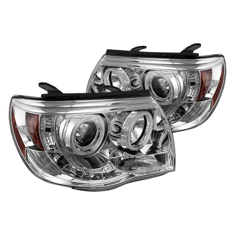 Toyota Tacoma Headlights: Toyota Tacoma 2005-2011 Chrome Halo Projector