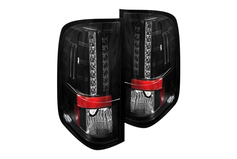 spyder alt yd cs07 led bk 5001771 black led tail lights. Black Bedroom Furniture Sets. Home Design Ideas
