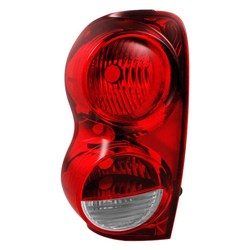 spyder dodge durango 2004 2009 chrome red oem style tail lights. Black Bedroom Furniture Sets. Home Design Ideas