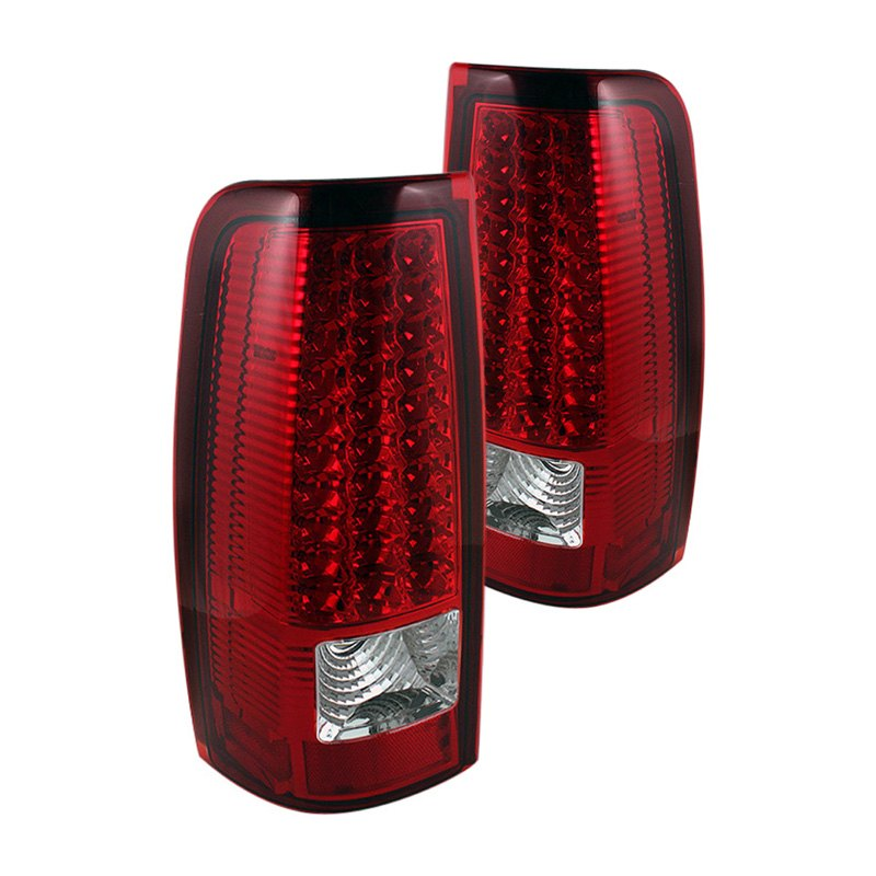 chevy silverado led tail lights pair red truck rear brake stop light. Black Bedroom Furniture Sets. Home Design Ideas