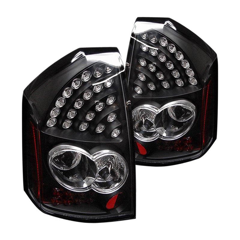 spyder chrysler 300 2005 2007 black led tail lights. Black Bedroom Furniture Sets. Home Design Ideas