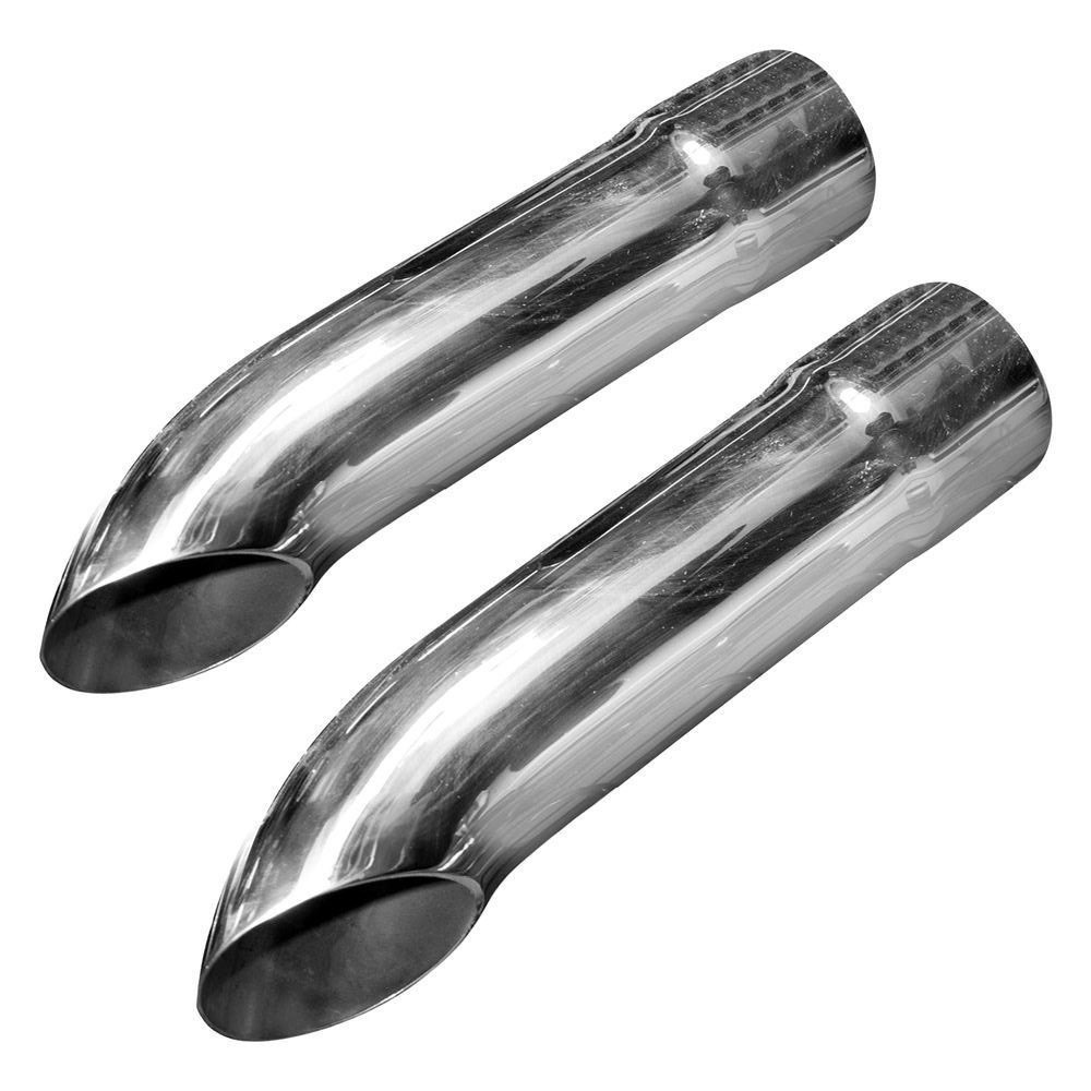 """Stainless Steel Polished Exhaust Tip Turn Down 2.5/"""" Inlet 2.75/"""" Outlet  12/"""" Long"""