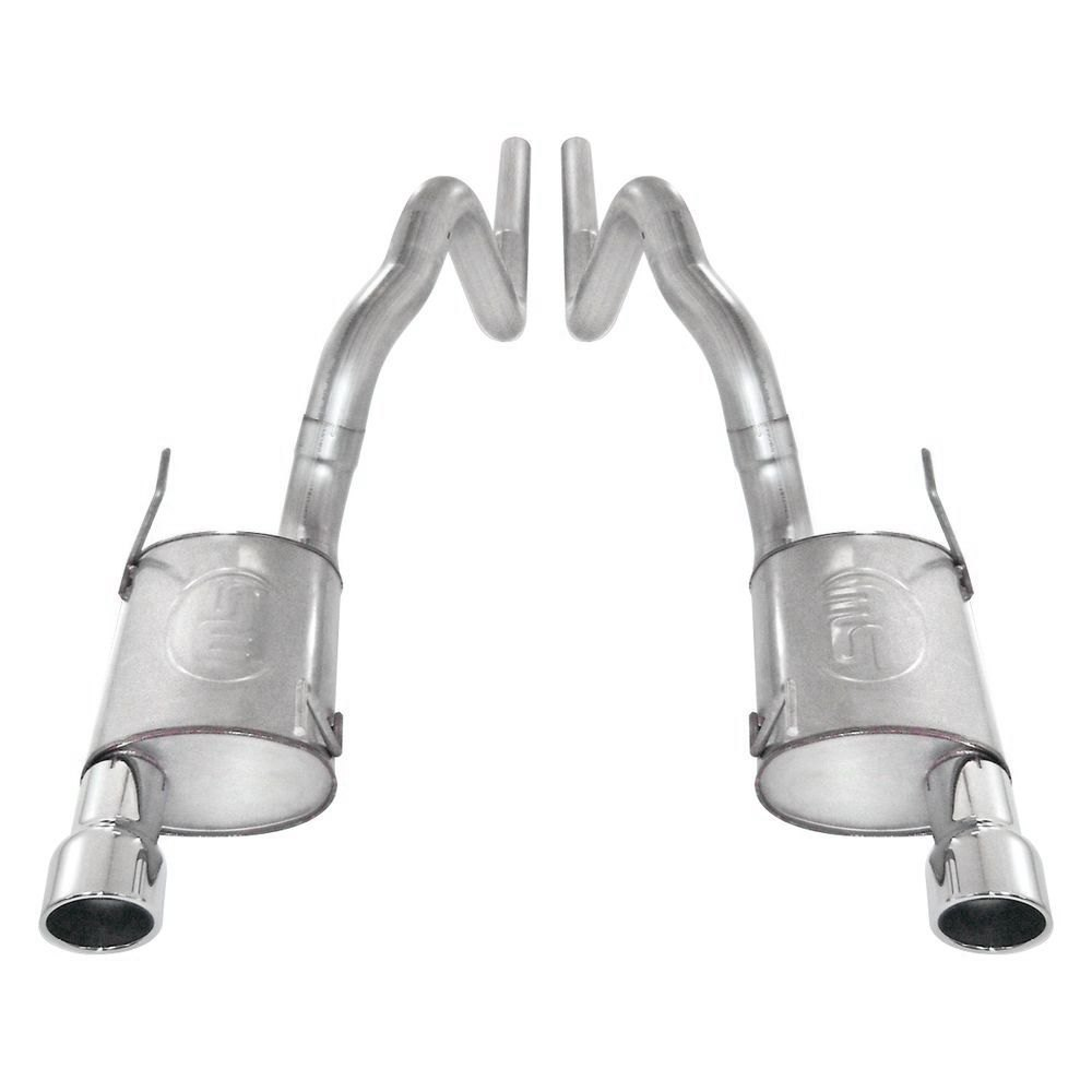 Stainless Works® M09GTL - 304 SS Turbo S-Tube Cat-Back ...