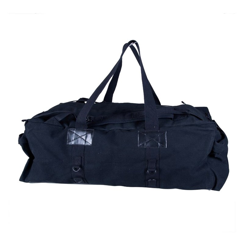 stansport 174 1239 tactical black canvas duffle bag