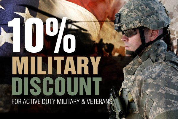 The Simple Tire Military Discount is 5 percent off** the price of your tires - just enter the code