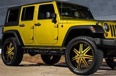 STATUS® - GAME Black with Custom Face and Stripe on Jeep Wrangler