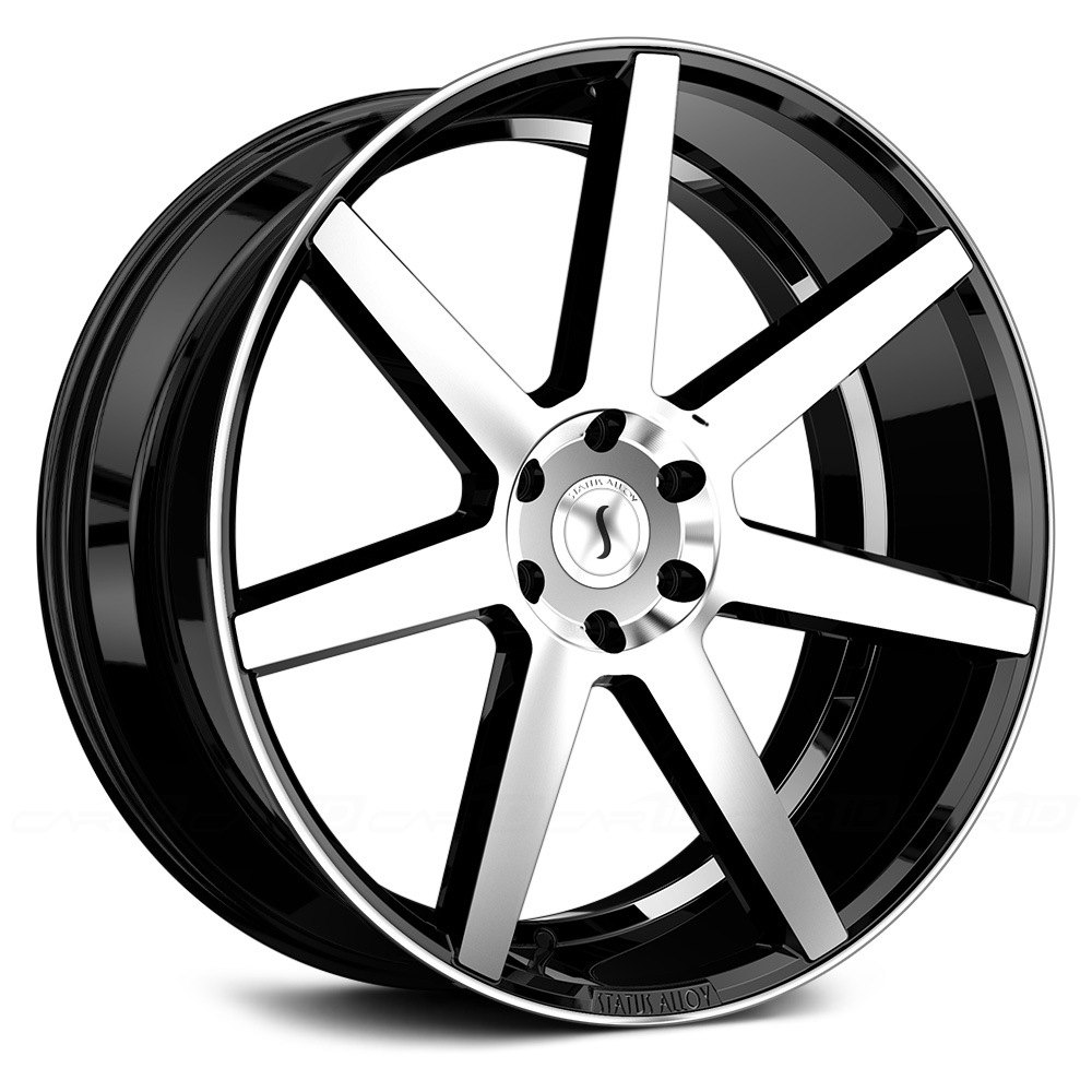 status journey wheels gloss black with machined face rims. Black Bedroom Furniture Sets. Home Design Ideas
