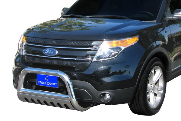 Ford Grill Guard For 85 : Steelcraft ford explorer quot bull bar with skid plate