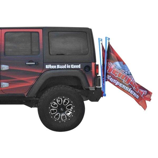 """Playboy Blue  2/"""" Receiver Single Flag Holder for Jeep Wrangler YJ TJ JK"""