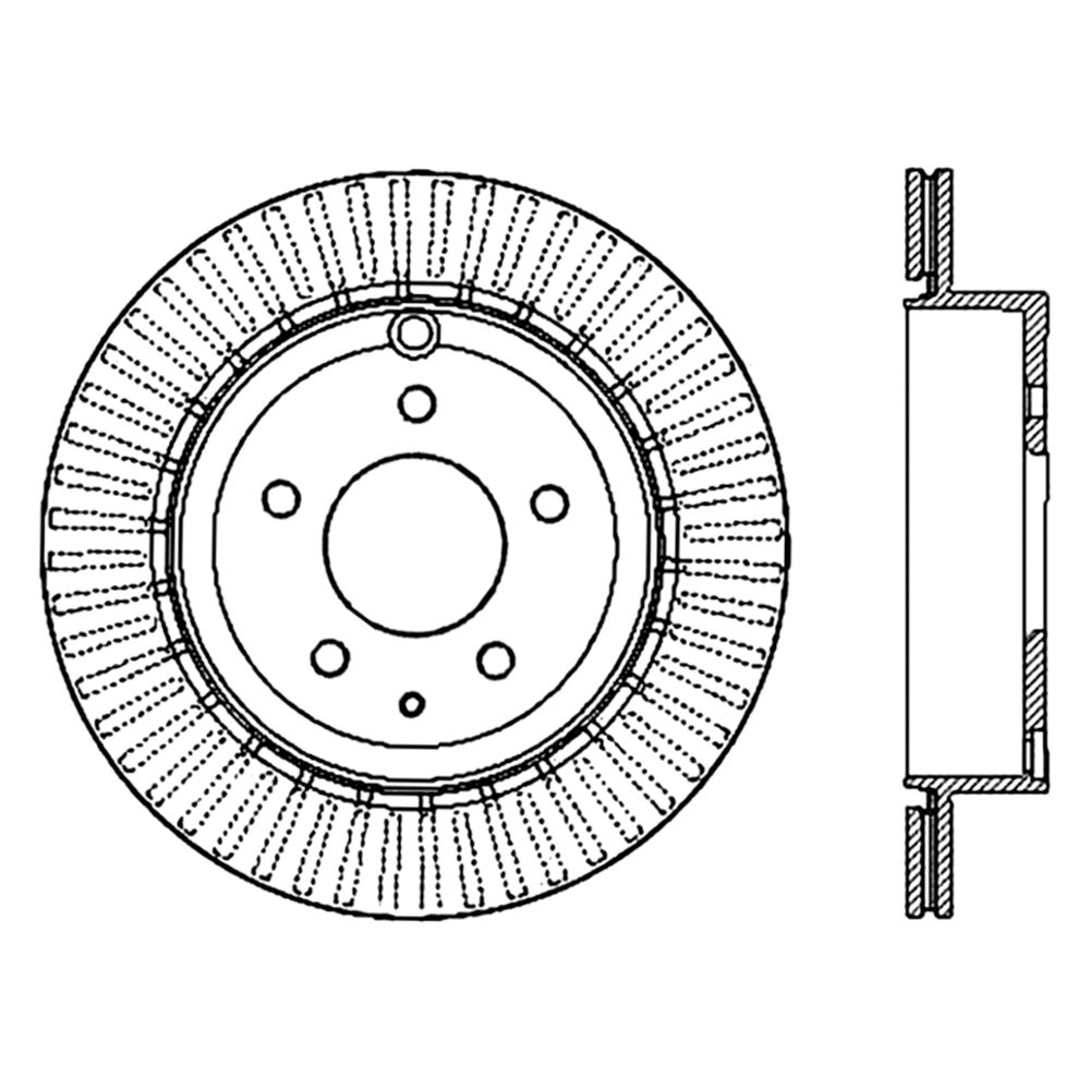 StopTech 126.66073SL Sport Slotted Rotor Left