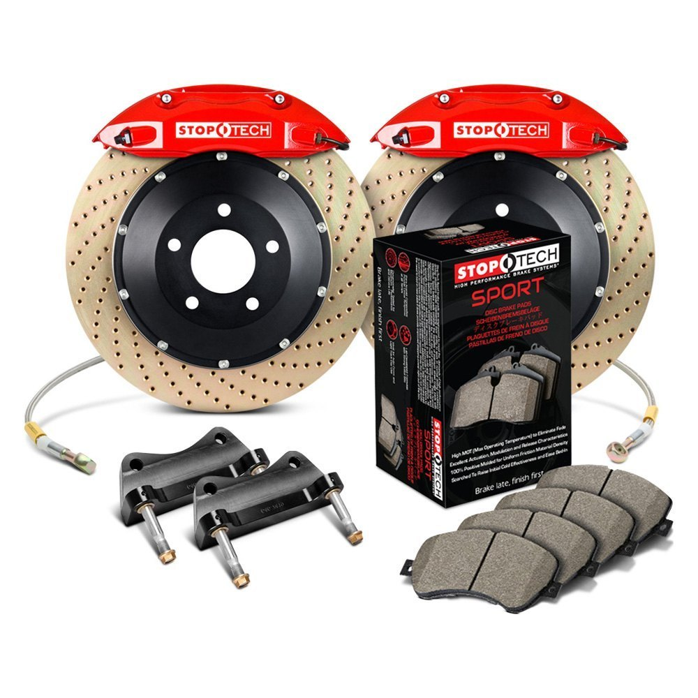 Stoptech performance drilled front brake kit