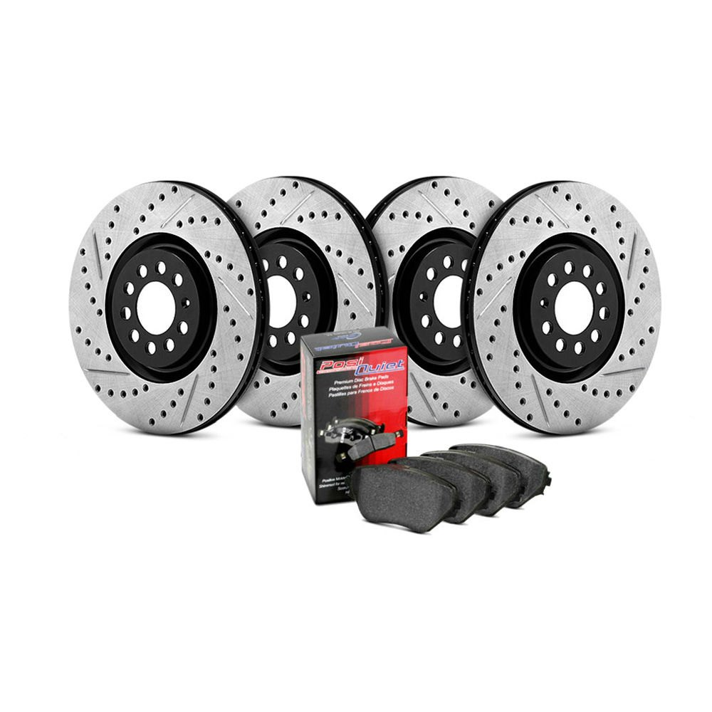 Rear Stoptech 938.46521 Street Axle Pack Drilled /& Slotted