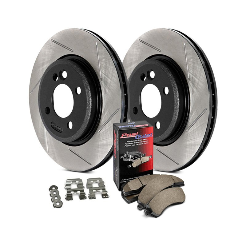 Front Slotted Stoptech 937.62032 Street Axle Pack