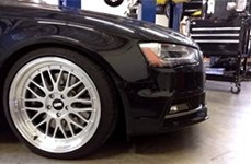 STR-RACING® - STR601 Hyper Silver with Machined Lip on Audi S4